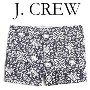 J.Crew Chino Stretch Black & White Floral Shorts